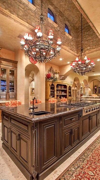 Incredible custom designed kitchen.