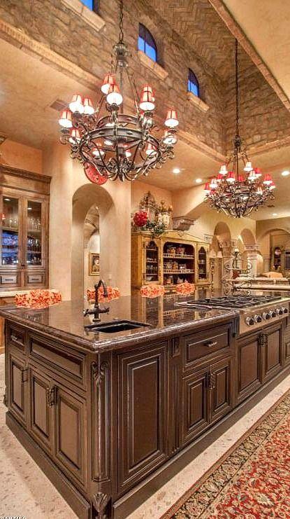 Incredible custom designed kitchen.